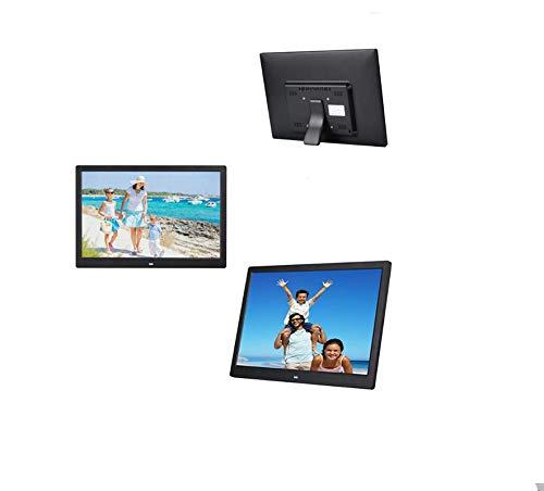 Hahaiyu 15,4 Pulgadas Marcos de Fotos Digital (1280 * 800 de resolución) Reproductor de LCD, Publicidad Estante Reproductor de Arranque automáticamente Soporte 1080P HD Video (Negro)