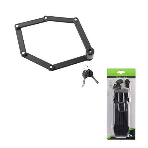 BTA Candado plegable para bicicleta de 840 mm con dos llaves y...