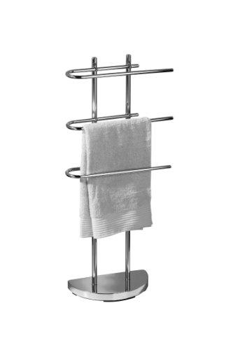 Premier Housewares - Toallero Triple con Base, Cromado