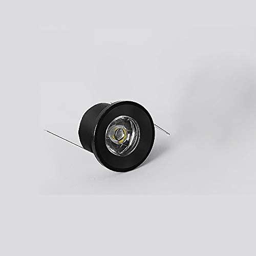 FACAZ Mini faretti, 1W LED Bancone a Risparmio energetico Cantinetta Vino Sala espositiva Faretti per Gioielli Faretti Luce Bianca Calda, Argento