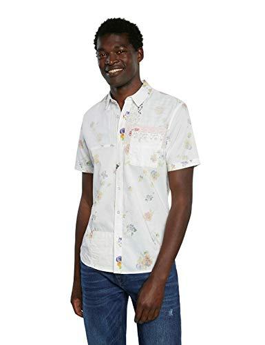 Desigual Cam_AGAPITO T-Shirt, Bianco, L Uomo