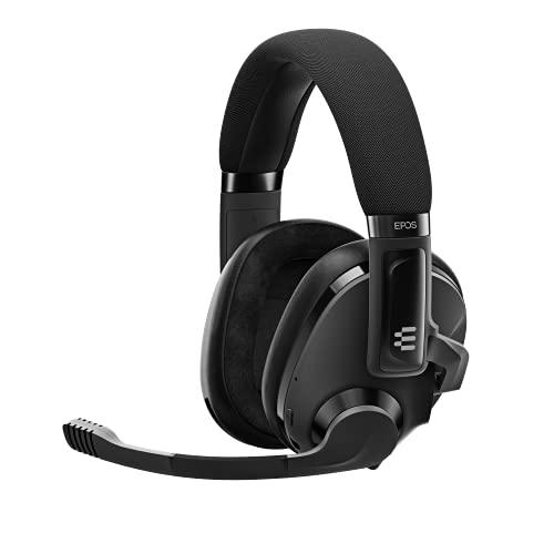 EPOS H3 Hybrid - Cuffie Gaming ad Acustica Chiusa con Bluetooth - Cuffie con Microfono - Cavo USB-A e Jack 3,5 mm per PC e Console - Doppio Microfono - Cuffie da Gaming Leggere e Multipiattaforma Nero