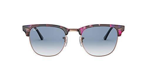Ray-Ban 0RB3016 Gafas de sol, Spotted Grey/Violet, 49 para Hombre