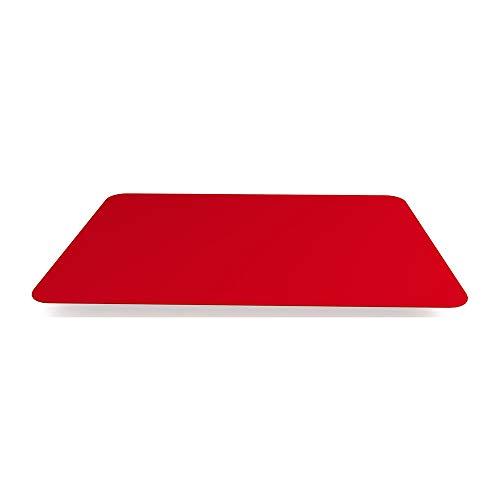 Ornamin Tischset Antirutsch 40 x 28 cm rot   Platzset mit spezieller Antirutsch-Beschichtung auf der Ober- und Unterseite   Anti-Rutsch-Matte