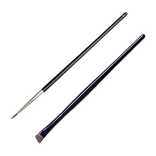Lurrose 2Pcs Pinceaux Eyeliner Pinceau à Sourcils à Angle Fin Brosse à Cosmétiques Eyeliner Brosse Liquide pour Femmes Dames