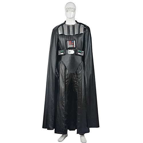 QWEASZER Star Wars The Black Darth Vader Cosplay Disfraz Adulto Halloween Cosplay Disfraces Movie Props Edición Deluxe,Black Darth Vader-XXXL