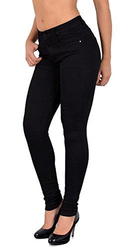 ESRA Damen Skinny Jeans High Waist SkinnyJeans Jeanshose Hoher Bund große Größen J403