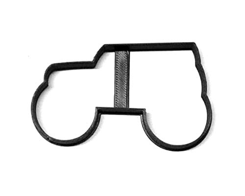 MONSTER TRUCK OUTLINE HEAVY DUTY OVERSIZED TIRES COMPETITION ENTERTAINMENT VEHICLE SPECIAL OCCASION COOKIE CUTTER BAKING TOOL 3D PRINTED MADE IN USA PR3227