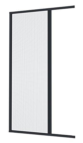 Windhager Plus Insektenschutz Aluminium-Rollo Fliegengitter für Türen, Balkontüren, individuell Kürzbar, 160 x 225 cm, anthrazit, 03895