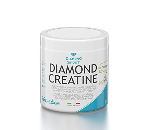 Diamond Life DIAMOND CREATINE - Creatina qualità Creapure , ß-Alanina, Fico d'india, Barbabietola rossa, Ibisco - 250g - No ogm, Vegano, Senza lattosio, Senza glutine, Senza coloranti artificiali