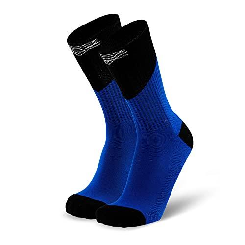 Splends Tennissocken Flat Serve Blau Herren & Damen - Sneaker Socken für Tennis, Rennrad, Fußball und Diabetiker - Wimbledon, French Open, Roland Garros - in den Größen 35, 36, 37, 38 (36)
