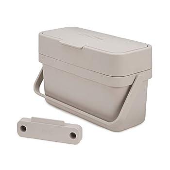Joseph Joseph - Compo 4 - bac à compostage facile à remplir - 4 litres - Stone