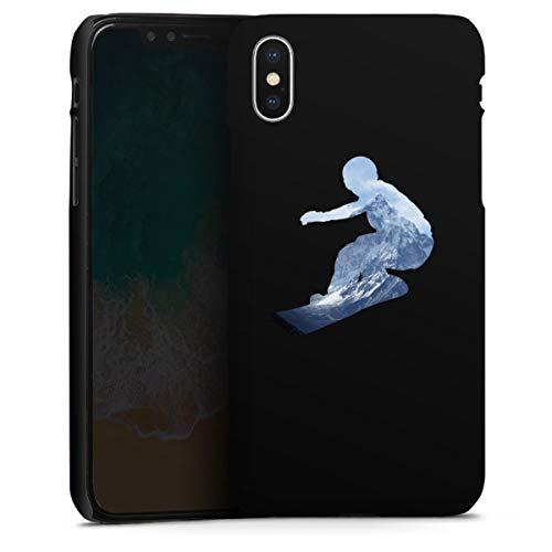 DeinDesign Premium Case kompatibel mit Apple iPhone X Smartphone Handyhülle Hülle matt Snowboard Winter Sport