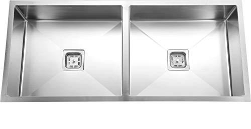 SILVER LINE Handmade 304 Grade Kitchen Sink Size :- 45' x 20' x 9' Double Bowl