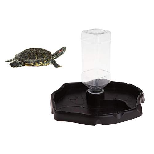 POPETPOP Reptile Water Dispenser-Reptile Waterer Automatische Nachfüllung Wasserspender Schildkröte Eidechse Schildkröte Wassertasse mit Flasche