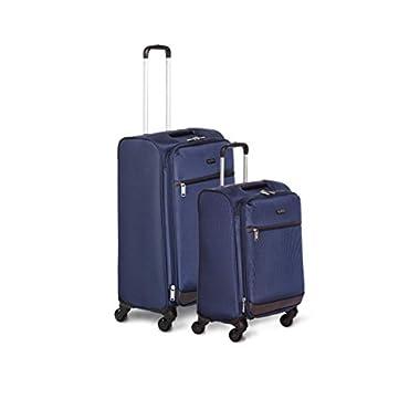 AmazonBasics Softside Spinner Luggage - 2 Piece Set (21 , 29 ), Navy Blue