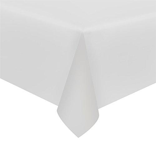 Ccinee 3pezzi nero tovaglia di plastica usa e getta da tavolo copertura, 2,7x 1,4m White 3PCS
