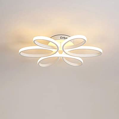 90W Modern Contemporary Chandelier Ceiling Light Fixture Diameter 29.5 Inch for Living Room Bedroom Dining Room Study Room Office Kids Room 3500=Yellow Warm White