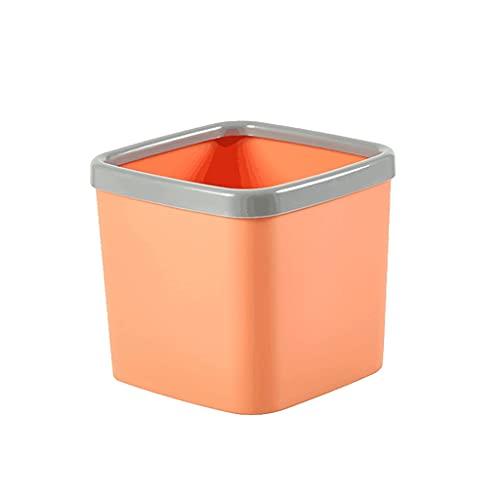 OPYTR Papelera Papelera de contenedor de Basura de la Basura de plástico de la Papelera de la Basura de la Basura para el baño de la tocador de baño o la Mesa de café-6color-6color Galón