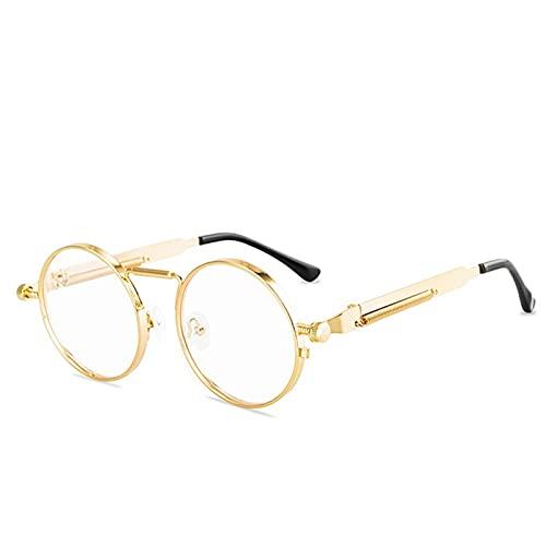 Vintage Punk Style Gafas de sol Hombres Retro Redondo Metal Marco Mujeres Gafas de sol Gafas Gafas Sol Mujer UV400 Gafas de sol polarizadas Hombres geniales para mujer deportes ( Lenses Color : C5 )