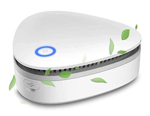TGB Generador de Ozono Mini Purificador de Aire Esterilizador con Batería 1500 mAh Recargable USB 2 Modos Automático para Coche, Armario, Frigorífico, Furgoneta, Barco