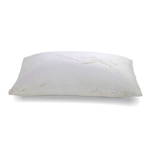 Customsleeping Bamboo Memory Foam Pillow - Adjustable Loft, Hypoallergenic CertiPUR Memory Foam,...