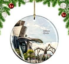 Kysd43Mill Museo de Guggenheim de España Bilbao ± ± ± 3/4 Árbol de Navidad Decoración para Colgar Ornamentos, Adornos de Navidad de cerámica, Decoraciones de Navidad: Amazon.es: Hogar