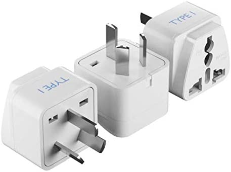 Ceptics World (USA, UAE, India & More) to Australia Universal Travel Plug Adapter (Type I) - Charge your Cell Phones,...
