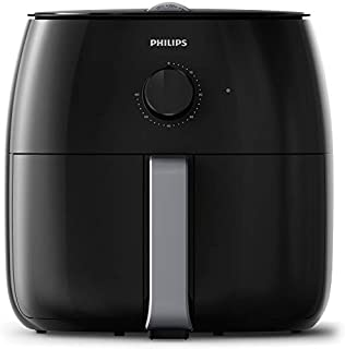 Philips Twin TurboStar Technology XXL Airfryer with Fat Reducer, Analog Interface, Black - 3lb/4qt-  HD9630/96