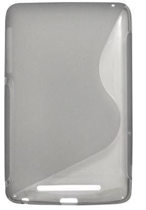 PLATA (プラタ) Nexus 7 2012 用 ウェーブ デザイン ソフト ケース 【 グレー 】