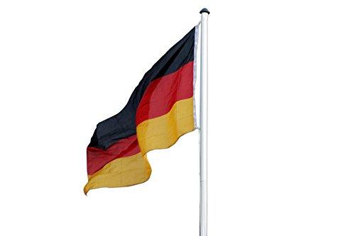 Posten Börse Fahnenmast Aluminium 6,20 Meter inklusiv Deutschland Fahne