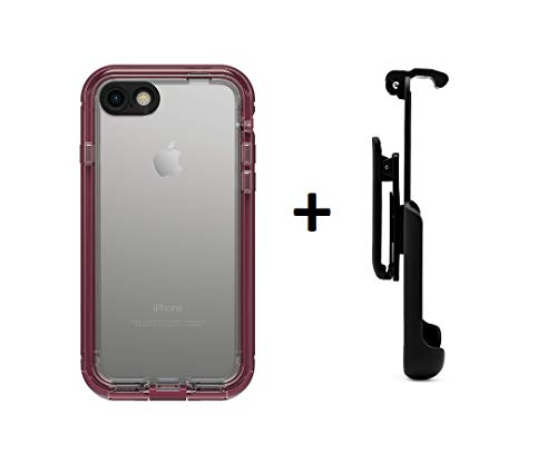 LifeProof NUUD Series Waterproof Case for iPhone 7 (ONLY) - Retail Packaging (Plum Reef + Belt Clip)