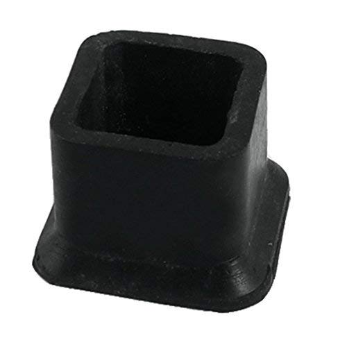 Flyshop Square Anti-Slip Rubber Leg Tips Covers Furniture Protectors 1-Inch x 1-Inch (25 x 25mm) Black 10Pcs