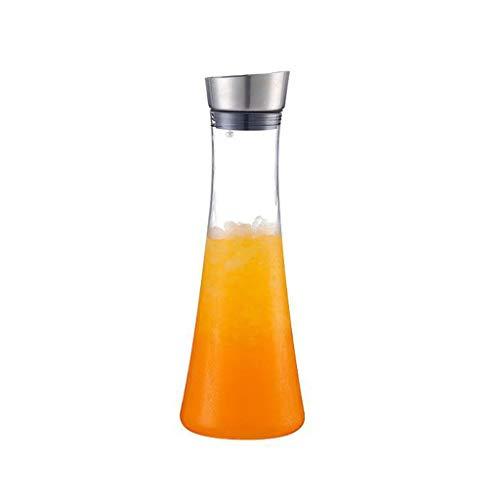 LLKK Olla de Jugo de plástico,Botella de Agua fría,Cabeza de Acero Inoxidable,Restaurante y Bar,Olla de Bebidas de Gran Capacidad,Agua fría Resistente al Calor,anticaída Jarra Agua Jarra de Agua