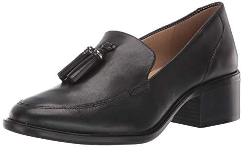 Naturalizer Women's Palmer Slip-Ons Loafer, Black Leather,8 M