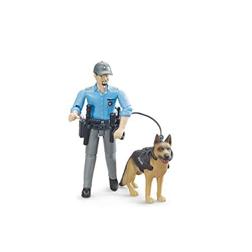 Bruder bworld Polizist mit Hund, 3-tlg, Polizei, Spiel Figur, Zubehör, Spielzeug, 62150