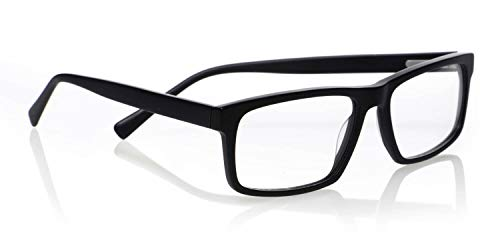 eyebobs I'm Righter Unisex Premium Readers, Black in a Matte Finish, 2.00 Magnification