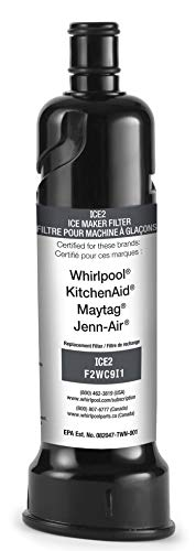 Replacement for Ice Maker Water Filter Whirlpool F2WC9I1 ICE2 for 50 Pound Ice Machines - 1-pack