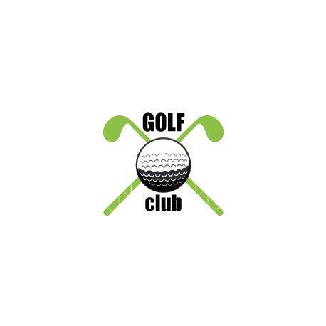 Aufkleber Golfschläger, selbstklebend, Größe: 12 cm