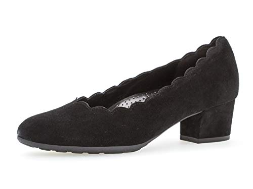 Gabor Damen Elegante Pumps, Frauen Pumps,Comfort-Mehrweite, Women's Woman Freizeit leger Court-Shoes Absatzschuhe Abendschuhe,schwarz,40 EU / 6.5 UK