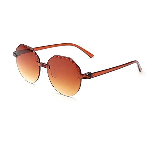 QSMIANA Gafas de Sol Vintage Transparente Color Color Gafas De Sol Chicas Niños Vidrios Sol Redondo Calle Bebé Bebé Lentes Lindos Sombras Eyewear-E