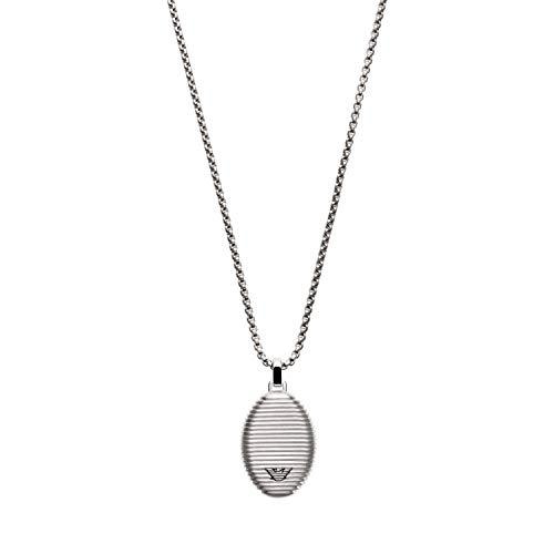 Emporio Armani EGS2654040 Herren Collier Edelstahl Silber 52 cm