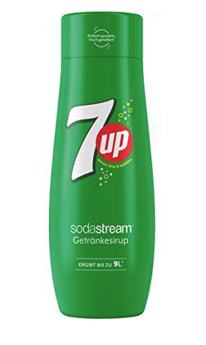SodaStream Sirup 7UP - 1x Flasche ergibt 9 Liter Fertiggetränk, Sekundenschnell zubereitet und immer frisch, Seven Up 440 ml