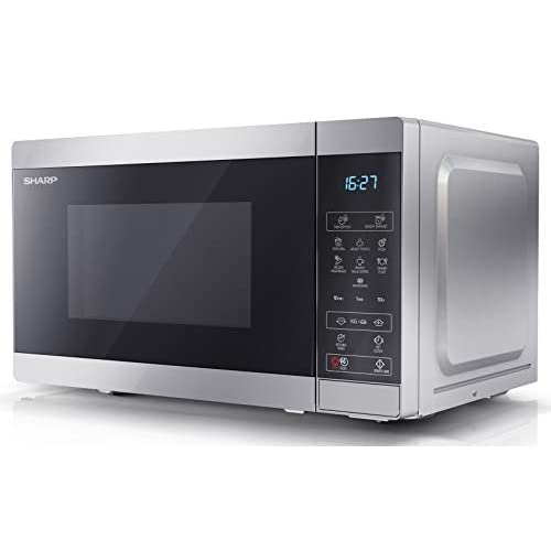 31bNL53nClL. SS500  - Sharp YC-MS02U-S 800 W Digital Solo Microwave Oven with 20 Litre Capacity, 11 Power Levels and 8 Cooking Programmes…