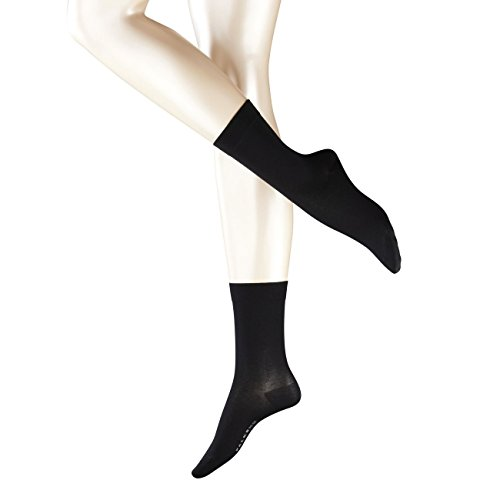 FALKE Damen Socken Cotton Touch 2er Pack, Größe:39-42;Farbe:Black (3009)