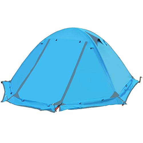 2-person camping tent, family camping tent, sturdy steel mast construction, sewn-in base plate, 100 waterproof for glamping, hiking, outdoor, mountaineering and travel.
