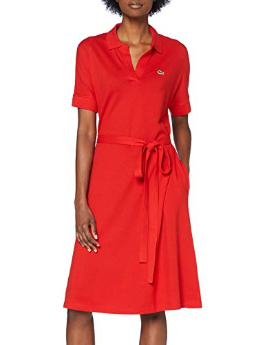 Lacoste Damen EF2302 Robe, Rouge, Small