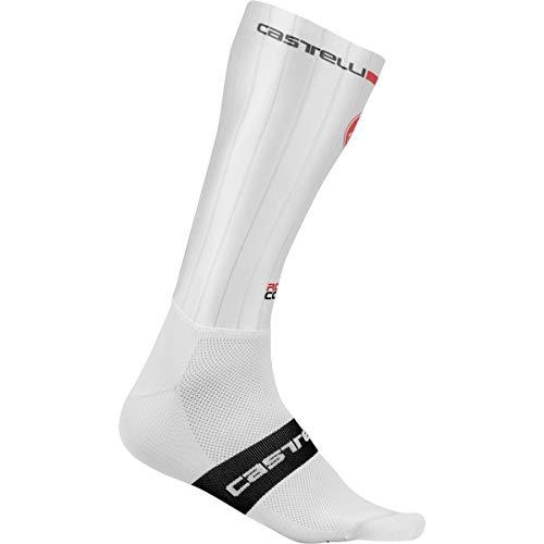 castelli Fast Feet, Calzini Unisex – Adulto, White, L/XL