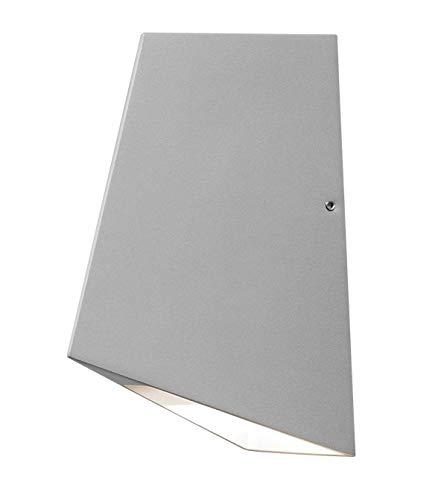 Gnosjö Konstsmide Imola 7928-310 Wandleuchte LED, Breite 15,5 cm Tiefe 19,5 cm Höhe 9 cm, 2x 4W, IP54, lackiertes Aluminium, grau 7928-310