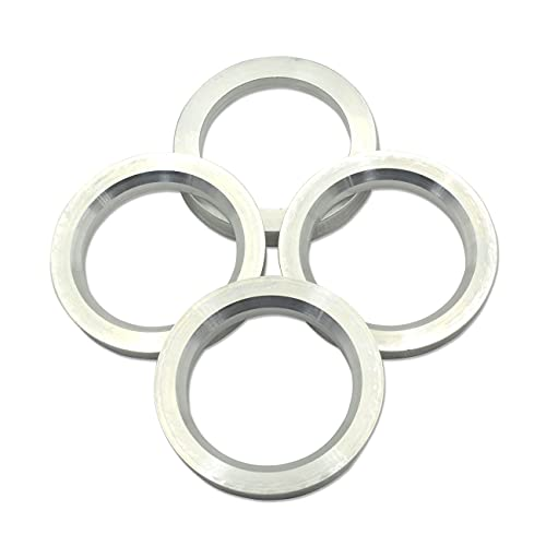 GoldenSunny 54.1 to 73.1 Hub Centric Rings, Silver Aluminum Hubcentric Rings Compatible with Mazda Miata Toyota Prius Corolla Yaris, 54.1mm ID to 73.1mm OD, Pack of 4